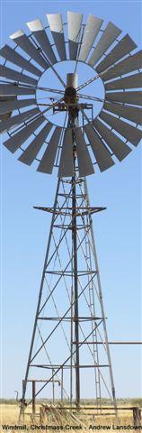 Windmill, Christmas Creek Station - Andrew Lansdown